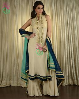 anarkali & a line frocks with churidar pajama 1 ~ desiemag