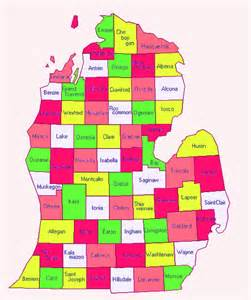 County Map Of Michigan by Map Of Michigan Counties Cities Michigan State Map