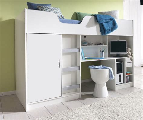 High Sleeper Bed White by New Cabin Bed Childrens Single Bed High Sleeper White