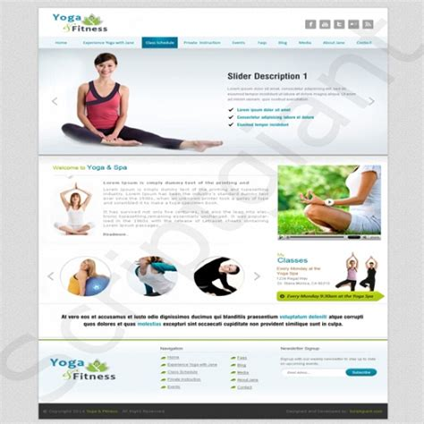 Yoga And Fitness Website Design Clone Php Script Fitness Website Design Templates