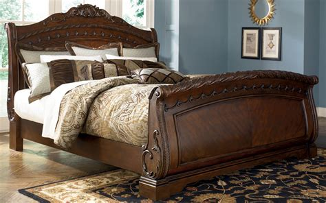 ashley furniture king size bed north shore king size sleigh bed from millennium by ashley