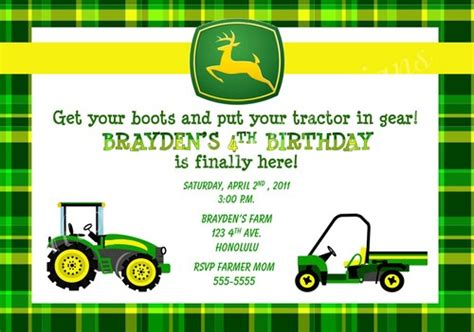 printable john deere birthday invitations free john deere farm birthday invitations templates john