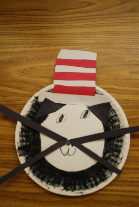 Cat In The Hat Paper Plate Craft - cat in the hat paper plate craft once a