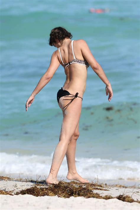 JACKIE CRUZ in  at a Beach in Miami on February 5, 2017   Worldnewsinn