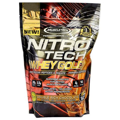 Promo On Whey Gold Standard Nitro Tech Combat Iso 100 Whey Protein 5 muscletech performance series nitro tech 100 whey gold rich chocolate 1lbs 454g