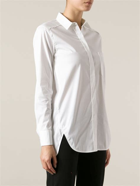 White Shirt Lyst by Lyst Theory Fedele Shirt In White