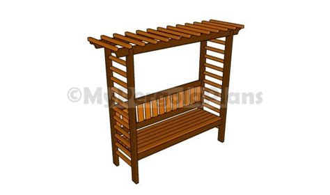 arbor bench plans 8 free arbor plans free garden plans how to build