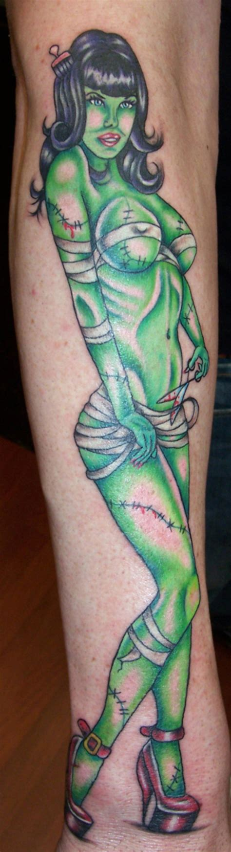 hot zombie tattoo bettie page pin up tattoo picture at checkoutmyink com