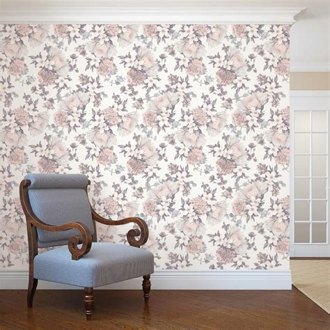 tempaper botanical blossom wallpaper bo510 the home depot