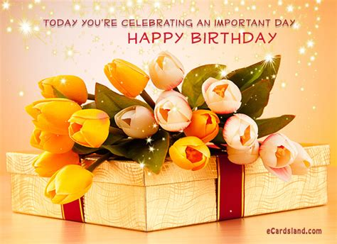 Ecard Gift Cards - birthday flower images free wallpaper sportstle