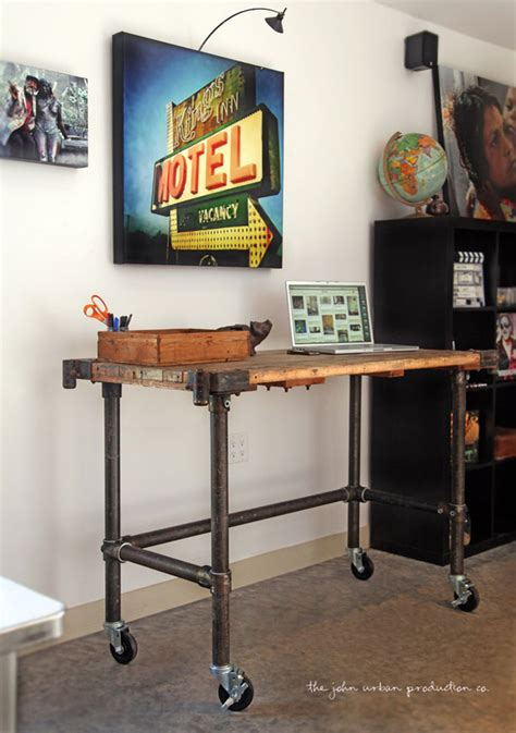 Industrial Pipe Desk Www Pixshark Com Images Galleries Standing Desk Pipe