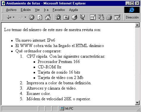 imagenes para listas html listas en html