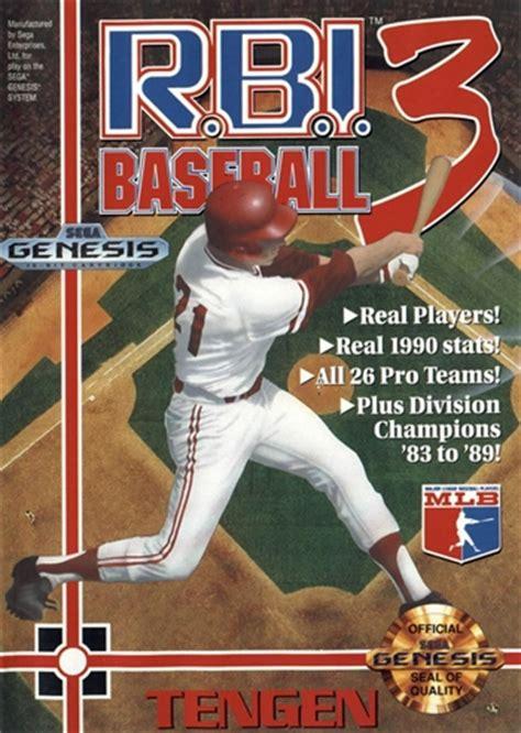 rbi baseball  sega genesis