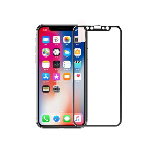Iphone X Tempered Glass 3d Color wholesale iphone x 3d tempered glass metal edge to edge