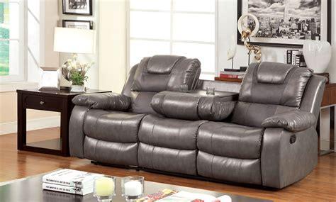 two tone reclining sofa furniture of america gray durotan two toned reclining sofa