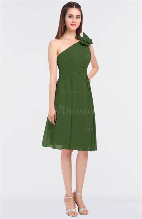Homegarden Knee garden green classic asymmetric neckline sleeveless knee