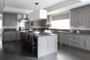 Grey Kitchen Designs Gray Washed Wood Floors Contemporary Kitchen Mar
