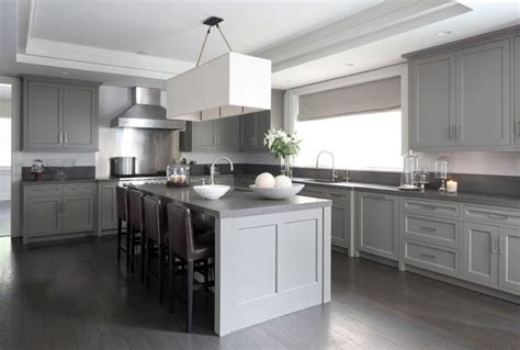 grey kitchen gray washed kitchen cabinets transitional kitchen