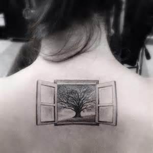 tattoo open window and tree ideas tattoo designs