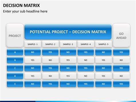 decision matrix template free powerpoint decision matrix sketchbubble