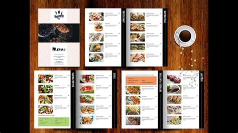 create food menu  photoshop youtube