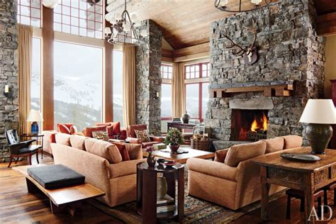 Mountain Home Interiors by A Rustic Yet Modern Montana Ski House By Michael S Smith