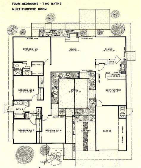 26 Best Eichler Floor Plans Images On Pinterest Modern | eichler home floor plans unique 26 best eichler floor