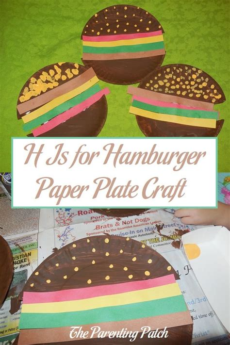 hamburger paper plate craft parenting patch