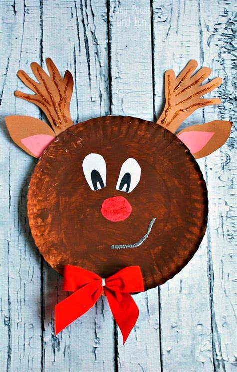 craft reindeer rudolph reindeer paper plate craft easy peasy and