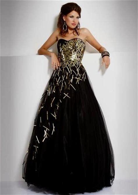 Black N Gold Prom Gown gold and black prom dresses naf dresses