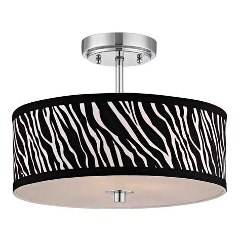 printer drum light chrome ceiling light with zebra print drum shade 14