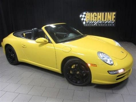 purchase used 2006 porsche 911 cabriolet 6 speed manual navigation only 29k miles in easton
