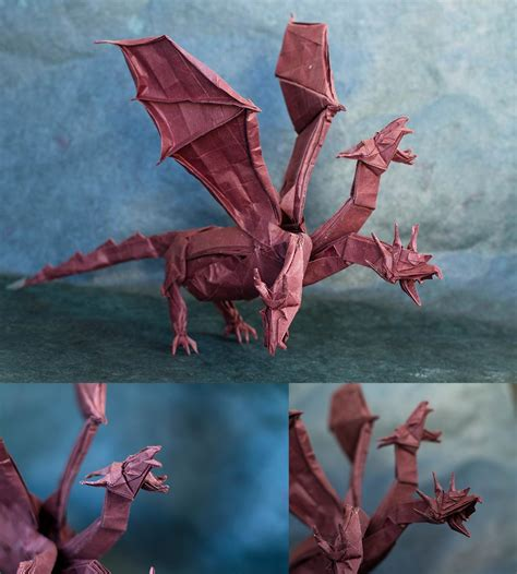 Origami Wyvern - 26 non traditional but still awesome origami dragons