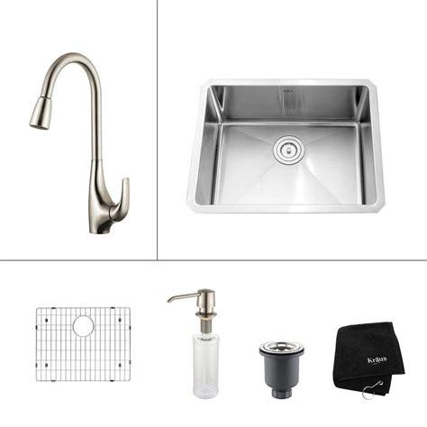 stainless steel single bowl undermount kitchen kraus dex undermount stainless steel 33 in single bowl