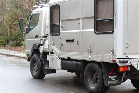 mitsubishi fuso 4x4 expedition vehicle custom fuso fg 4x4 4 215 4 surf expedition truck