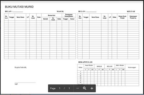 format buku catatan perkembangan siswa format buku mutasi siswa smp mts terbaru administrasi