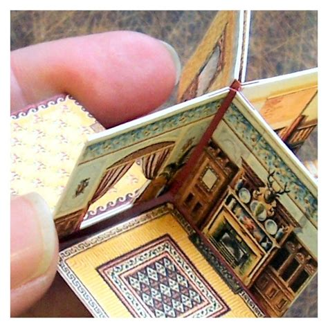 How To Make A Paper Doll House - how to make a folding dolls house open house miniatures
