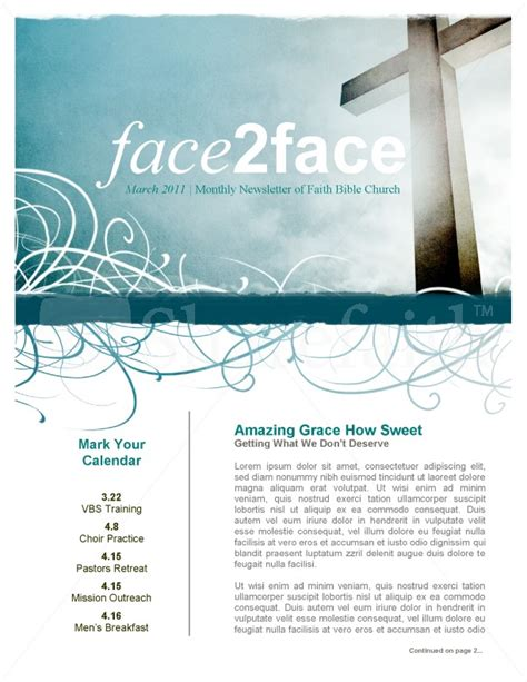 amazing grace church newsletter template newsletter