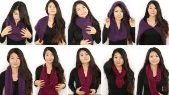 Different Ways To Wear Infinity Scarf 10 Ways To Wear An Infinity Circle Scarf Chung