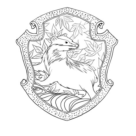harry potter coloring pages hufflepuff hufflepuff crest pottermore www imgkid the image