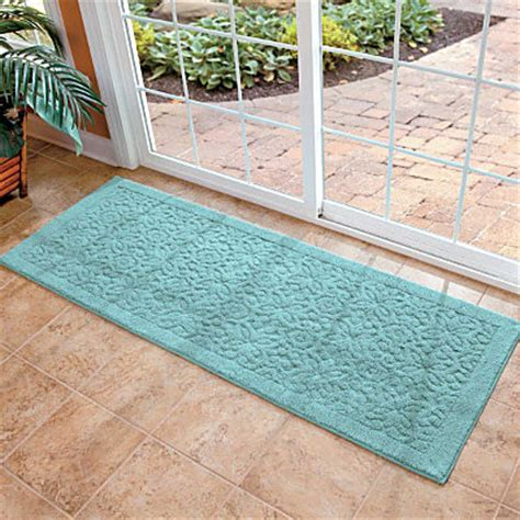 Washable Runner Rugs Washable Embossed Runner 6 Contemporary Rugs By Improvements Catalog