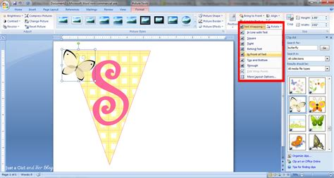 word clipart how to make a bunting banner in word with clip tips
