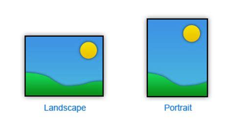 Landscape Orientation Usability Usability Glossary Portrait And