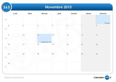 Calendrier 5 Novembre 2015 Calendrier Novembre 2015