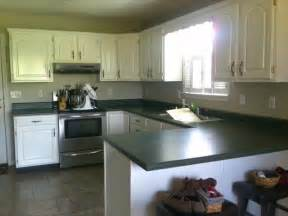 Painted Kitchen Countertops Newlywed Hares How To Paint Your Countertop