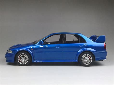 mitsubishi blue one model mitsubishi lancer evolution vi blue