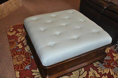 how to reupholster an ottoman how to reupholster an ottoman and how to a tufted