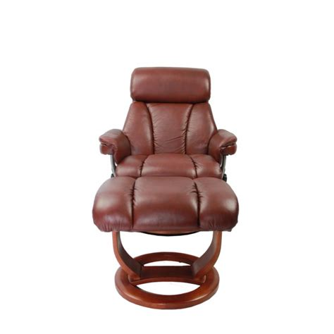 super sized recliners mars leather swivel recliner footstool in chestnut