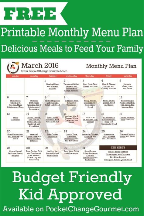 printable budget recipes delicious meals to feed your family in the printable march