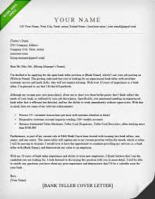 Banking Cover Letter by Bank Teller Cover Letter Sle Resume Genius